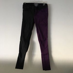 Purple & Black Skinnies Sz 7